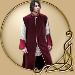 Costume -Sleeveless Burgundy Jacket